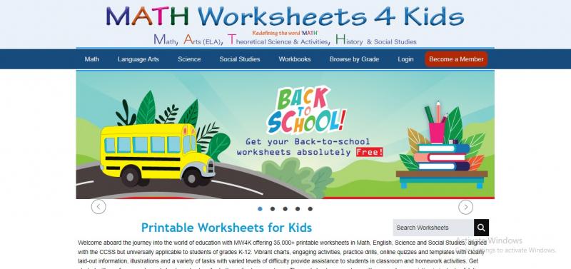 Mathworksheets4kids