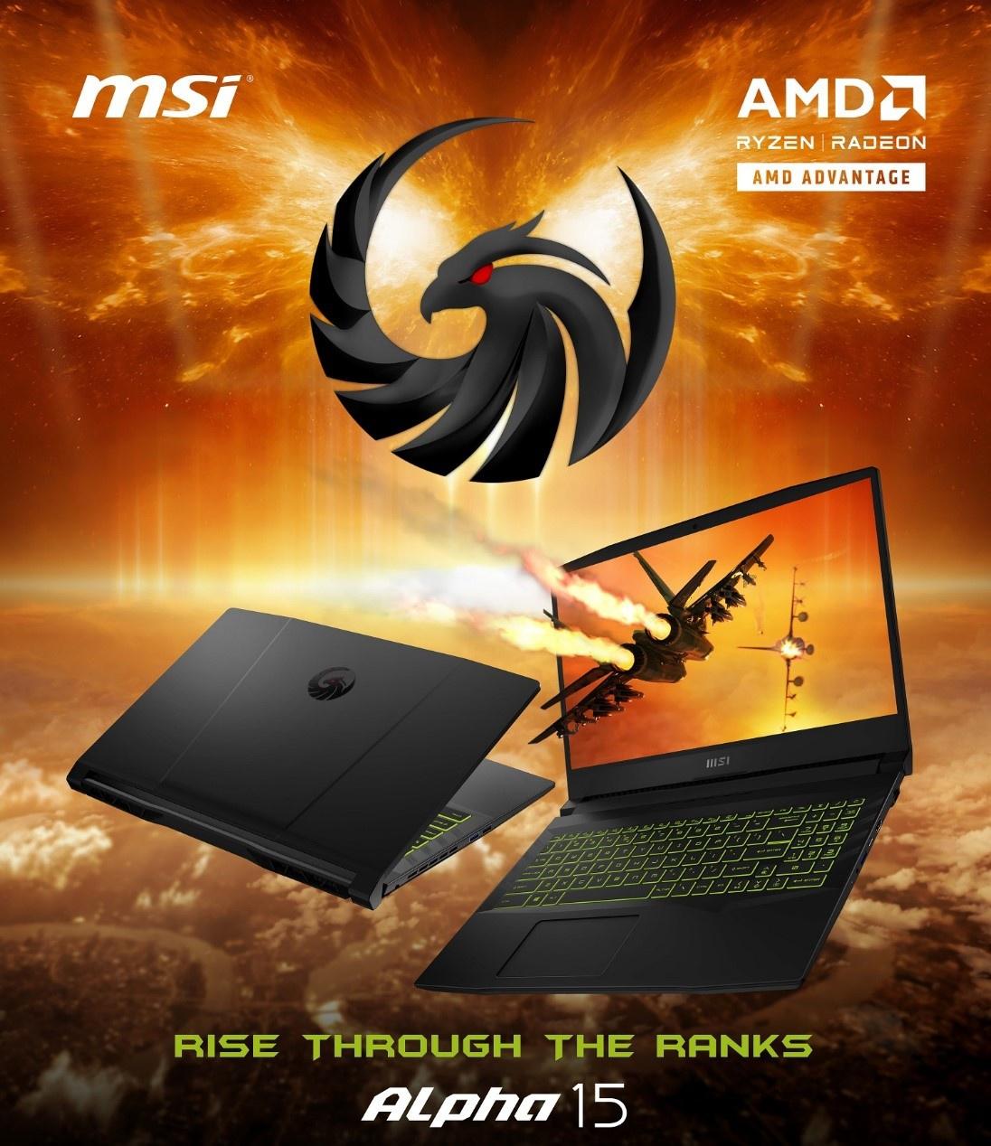 MSI trình làng laptop game Alpha 15 mạnh mẽ với sự kết hợp của cặp đôi AMD - ảnh 1