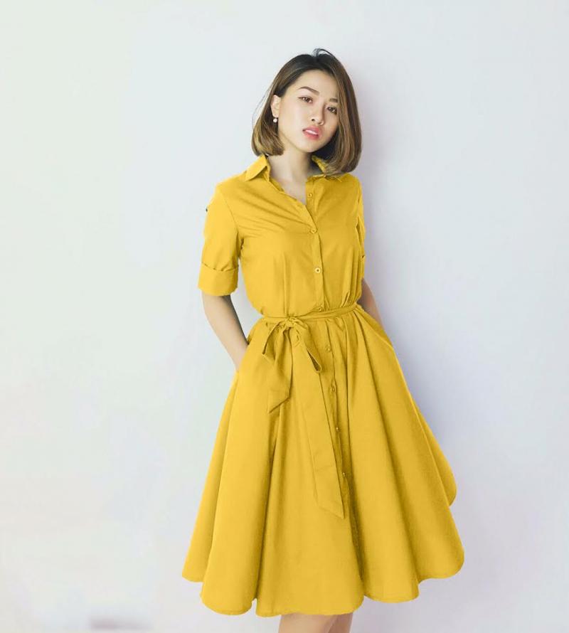 Bạn sẽ rạng rỡ hơn trong chiếc váy với màu vàng chanh