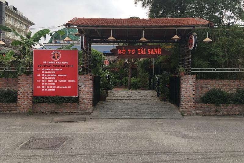 Nhà Hàng Bò Tơ Tây Ninh Tài Sinh - Chùa Bộc