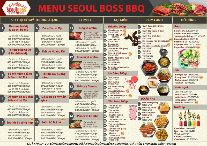 Nhà Hàng Hàn Quốc SEOUL BOSS