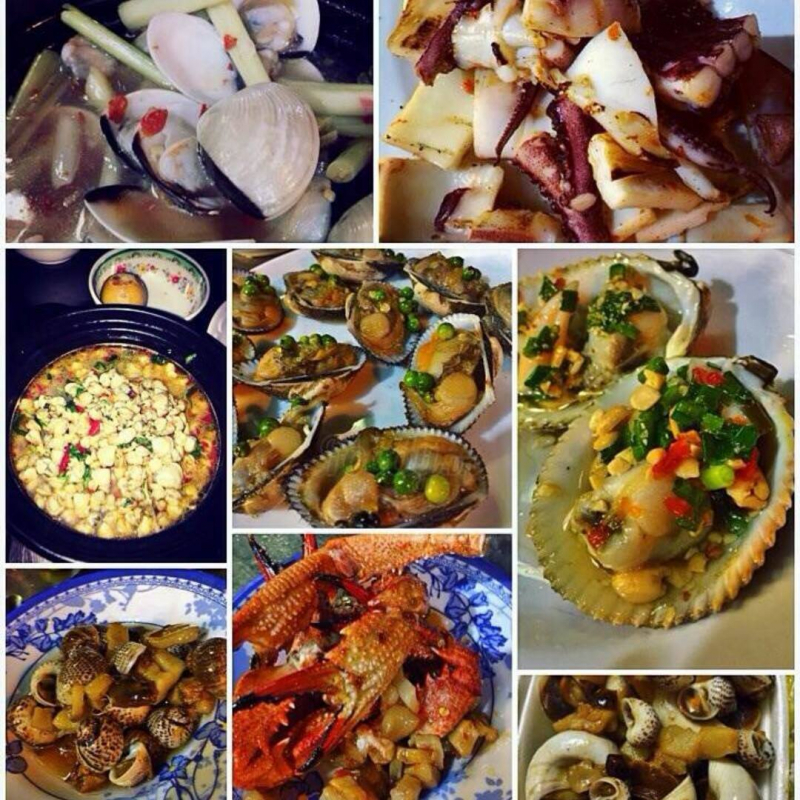 Đa dạng các món hải sản