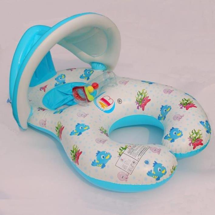Phao bơi đôi cho mẹ và bé được làm từ chất liệu nhựa PVC vô cùng an toàn