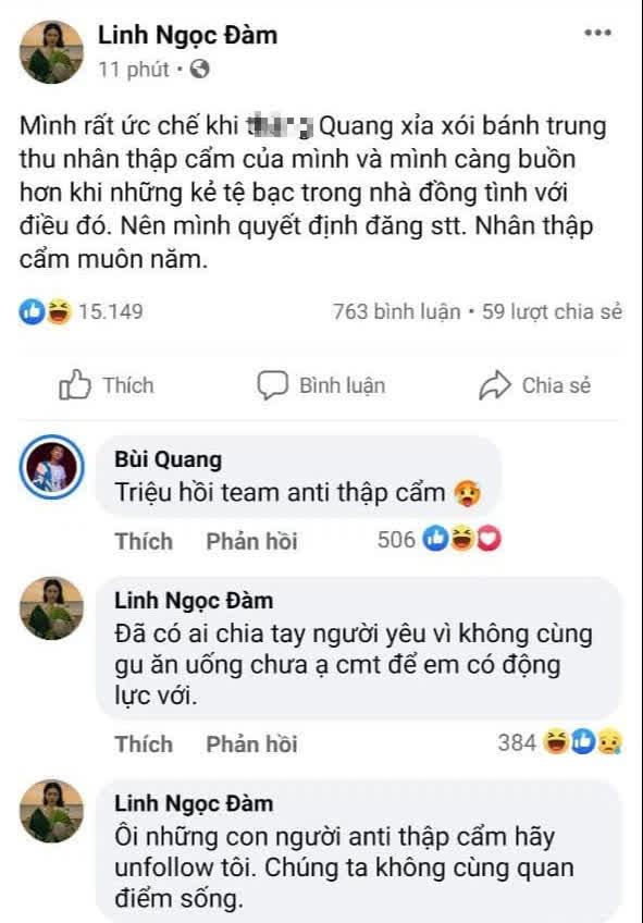"""Bùng nổ tranh cãi lớn trong team Linh Ngọc Đàm chỉ vì… nhân bánh trung thu, bạn thuộc """"phe"""" nào?"""