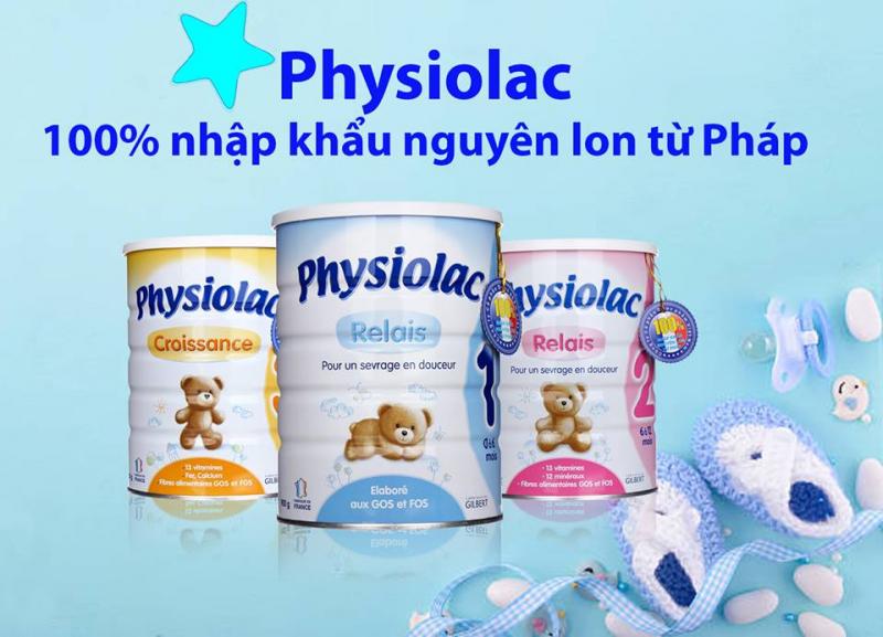 Physiolac số 1, 2, 3.