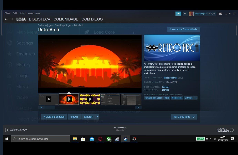 Giả lập game cổ điển RetroArch có mặt miễn phí trên Steam
