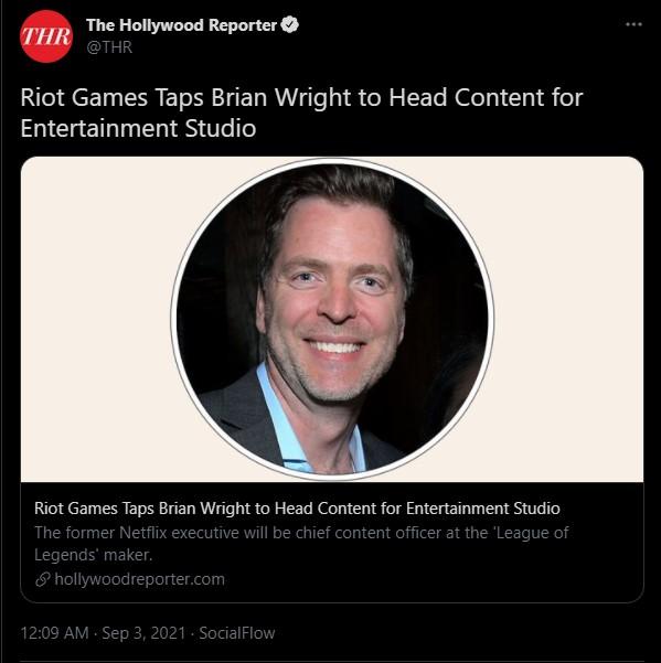 """LMHT: Riot Games """"chơi lớn"""" khi chiêu mộ cựu nhân viên Netflix để đẩy mạnh mảng phim ảnh"""