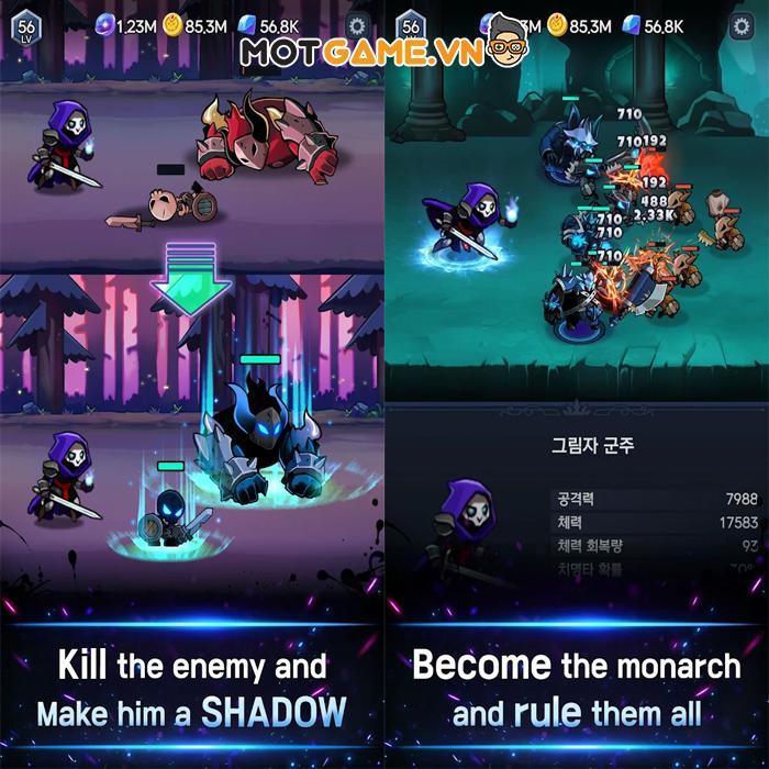 Shadow Knights : Idle RPG game nhập vai AFK với gameplay đậm chất bóng tối!