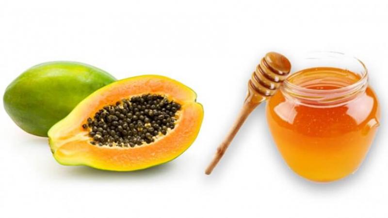 Sinh tố đu đủ, mật ong