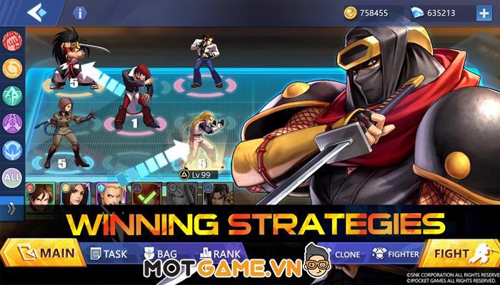 SNK FORCE: Max Mode. Game chiến thuật thẻ bài kết hợp nhiều vũ trụ đối kháng như Vương Quyền, Samurai Shodown!