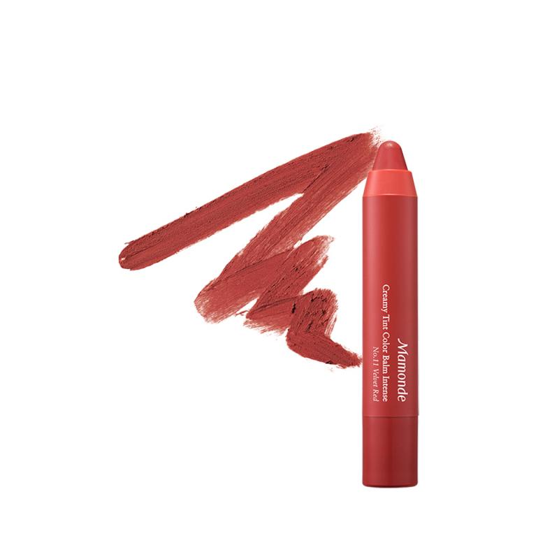 Son bút chì 3 in 1 cho bờ môi mềm mượt Mamonde Creamy Tint Color Balm Intense