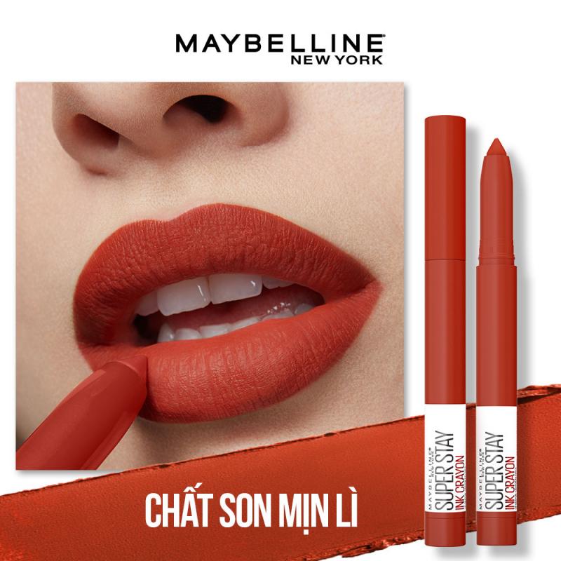 Son bút chì mịn lì 8h lâu trôi Maybelline New York Super Stay Ink Crayon Lipstick