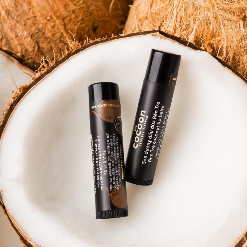 Son dưỡng môi dầu dừa bến tre the cocoon