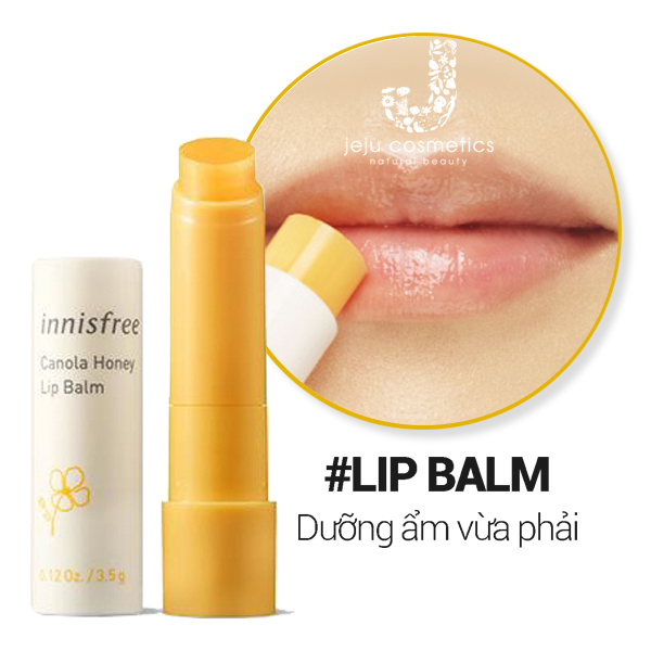 Son dưỡng môi mật ong hoa cải innisfree Canola Honey Lip Balm