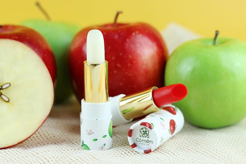 Son dưỡng môi táo hữu cơ