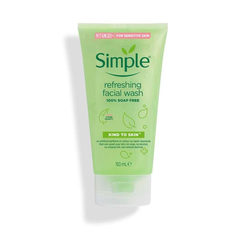 Sữa Rửa Mặt Dịu Nhẹ Simple Kind To Skin Refreshing Facial Wash