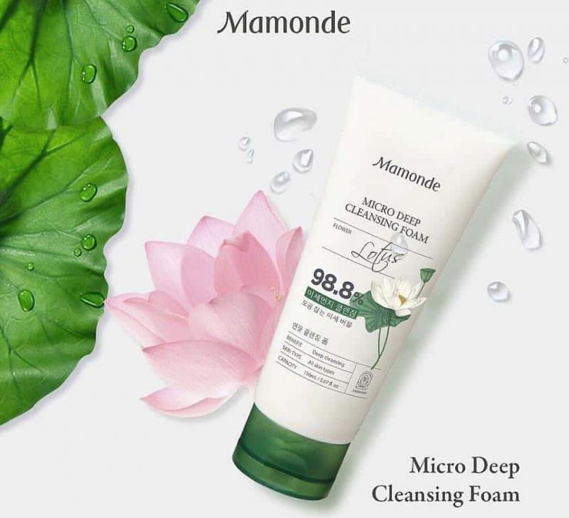 Sữa rửa mặt tạo bọt làm sạch lỗ chân lông và mụn đầu đen Mamonde Micro Deep Cleansing Foam