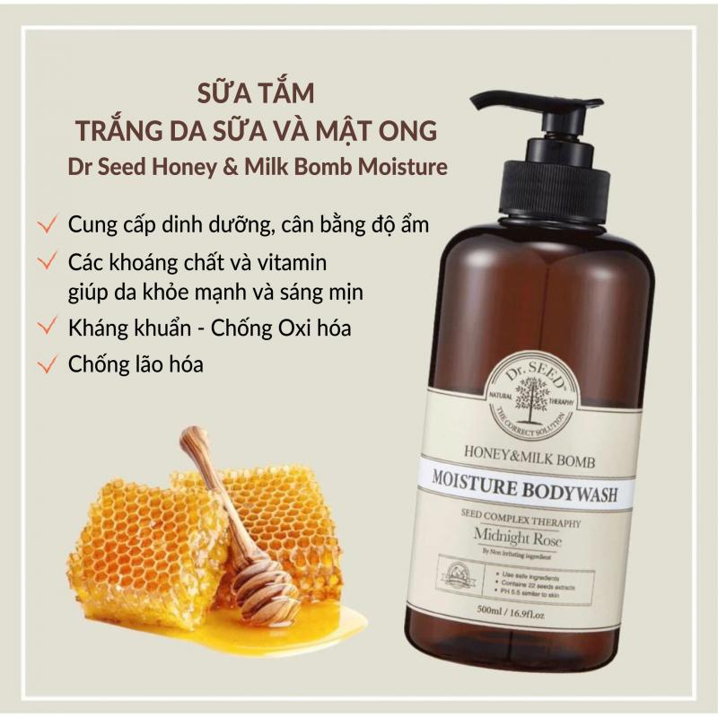 Sữa Tắm DR SEED Honey & Milk Bomb Moisture Bodywash