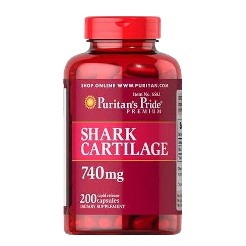 Sụn vi cá mập bổ xương khớp tăng cường dịch khớp Puritan's Pride Shark cartilage