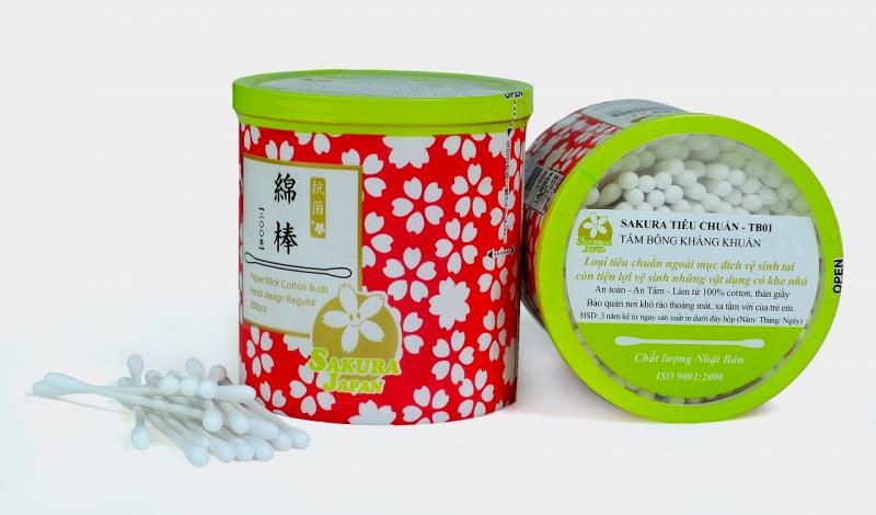 Tăm bông kháng khuẩn SAKURA Tiêu chuẩn TB 01