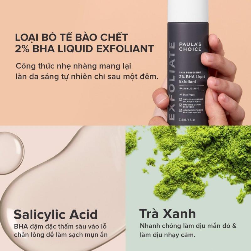 Tẩy tế bào chết cho da dầu mụn Paula's Choice Skin Perfecting 2% BHA