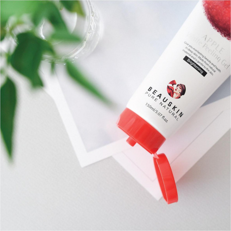 Tẩy Tế Bào Chết Mặt Dạng Gel Dịu Nhẹ BEAUSKIN Apple White Peeling Gel