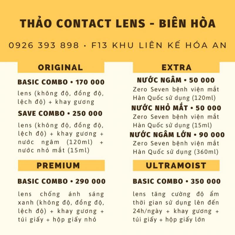 Top 5 Địa chỉ mua kính áp tròng uy tín nhất TP. Biên Hòa, Đồng Nai