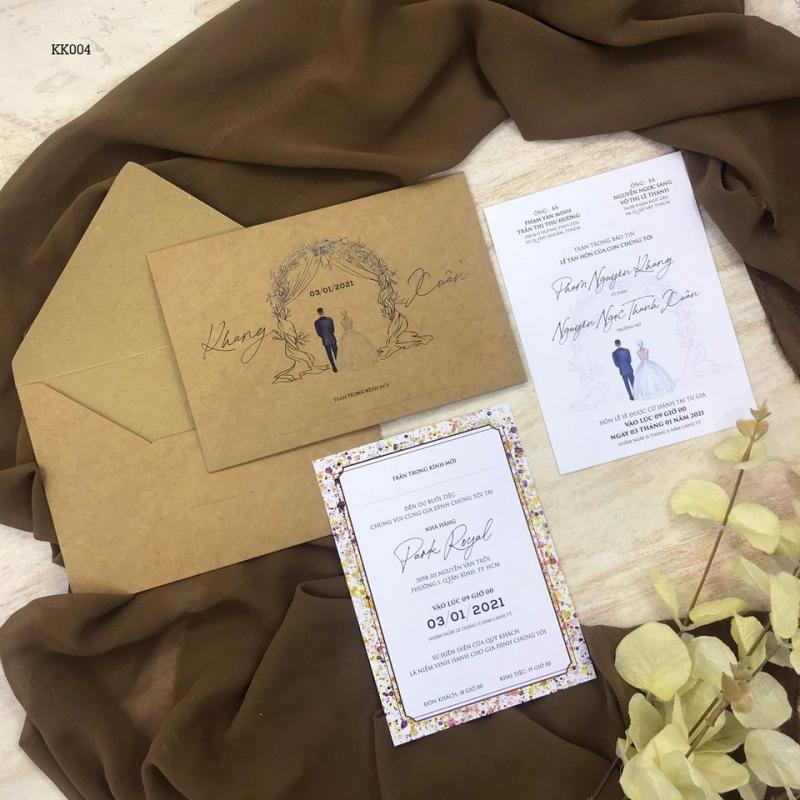 Nhiều mẫu giấy in độc đáo được Thiệp cưới KK lựa chọn kỹ lưỡng