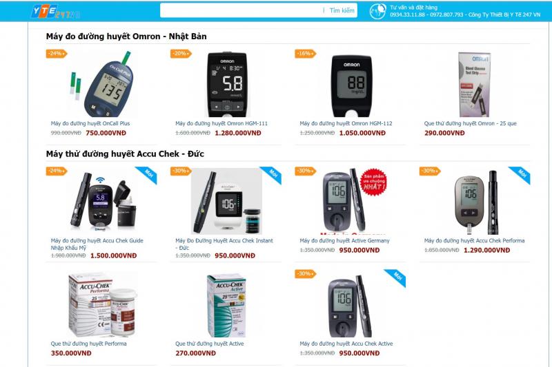 Top 5 Địa chỉ bán máy đo đường huyết tốt nhất tại TP. Hồ Chí Minh