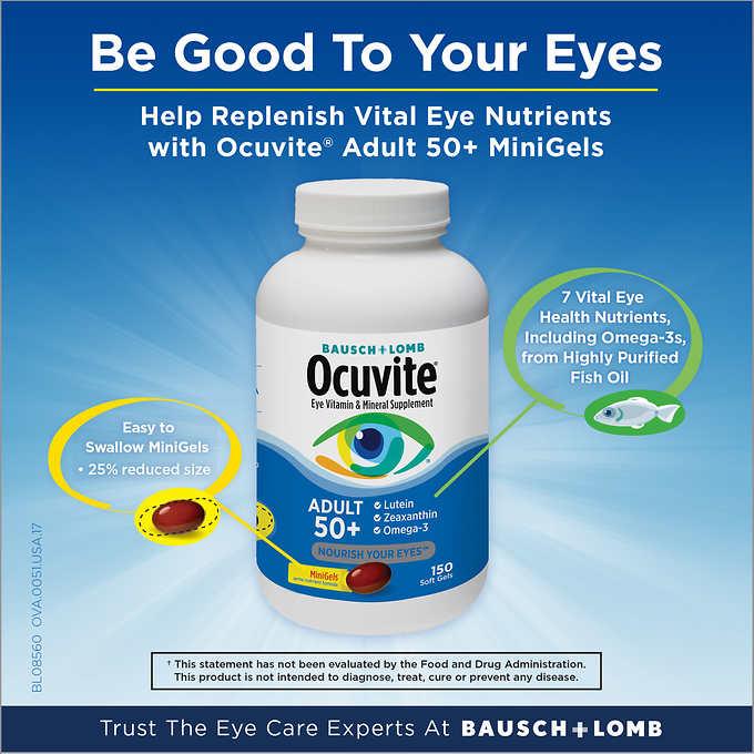 Viên uống bổ mắt Ocuvite Adult 50 +