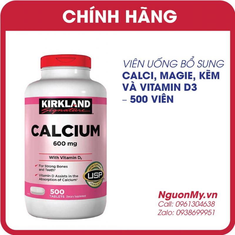 Thuốc bổ sung Calcium + D3 của Kirkland