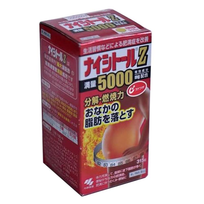 Thuốc giảm mỡ bụng Naishituro Z 5000mg Kobayashi