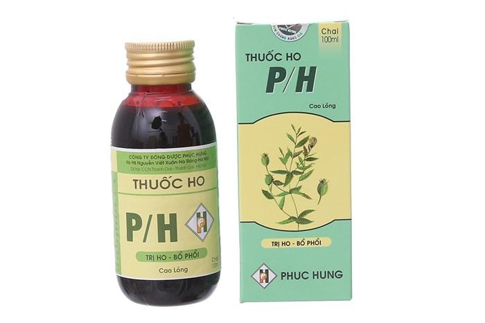 Điều trị các triệu chứng ho P/H (100ml)
