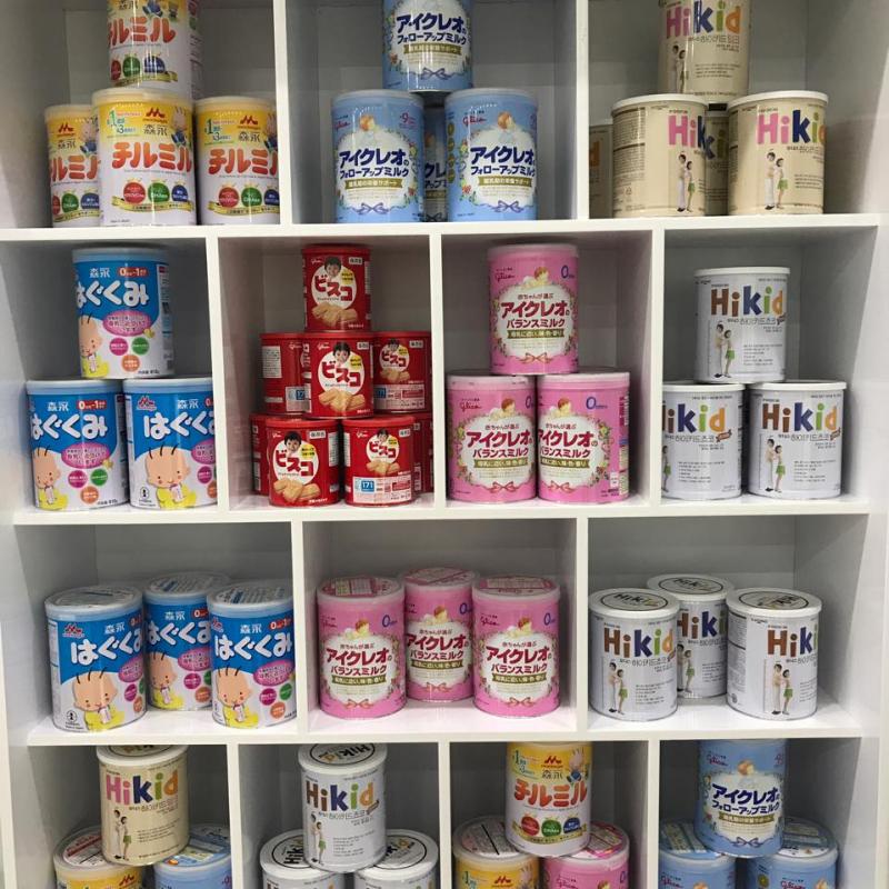 Các loại sữa được bán trong Thụy Hân Mart