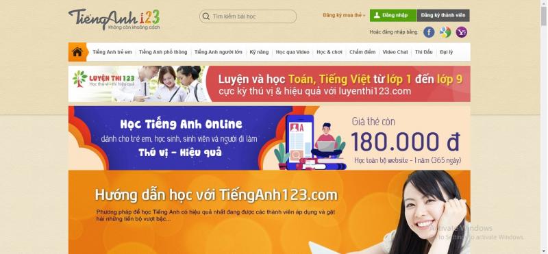 Tienganh123.com là một lựa chọn khá hấp dẫn