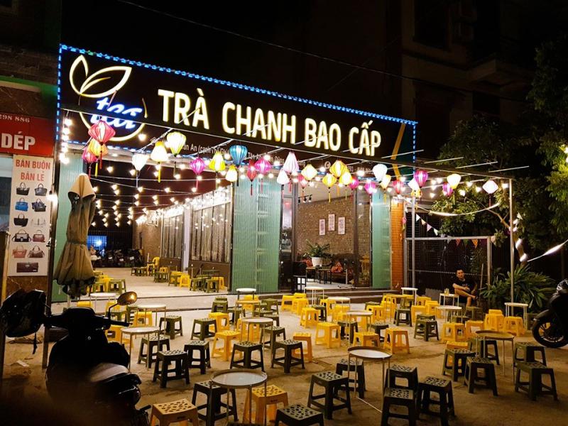 Trà Chanh Bao Cấp có không gian ngồi thoáng rộng