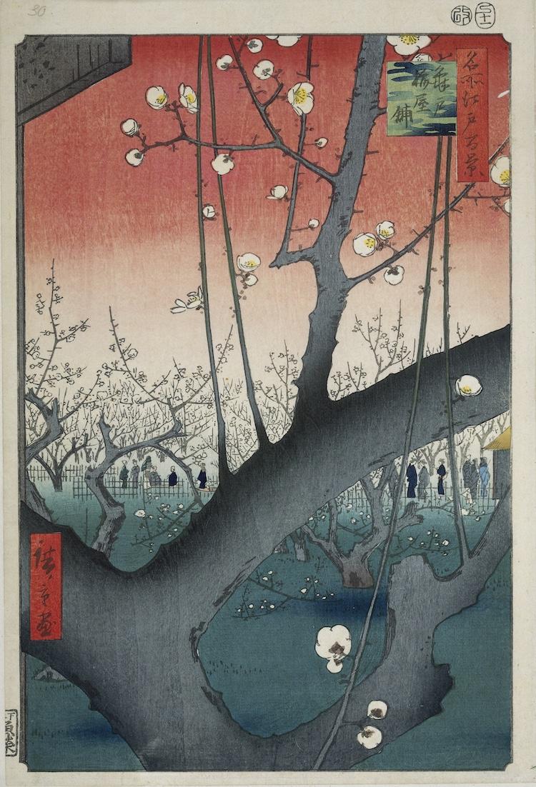 """""""The Plum Garden in Kameido"""" (Vườn hoa Mai ở Nhật Bản ở Kameido)"""