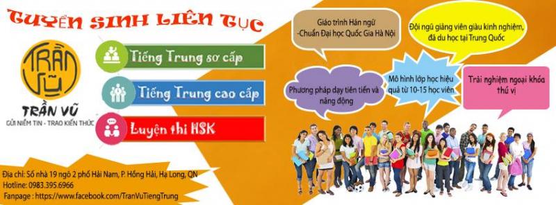Trung tâm tiếng Trung Trần Vũ - địa chỉ học tiếng Trung đáng tin cậy