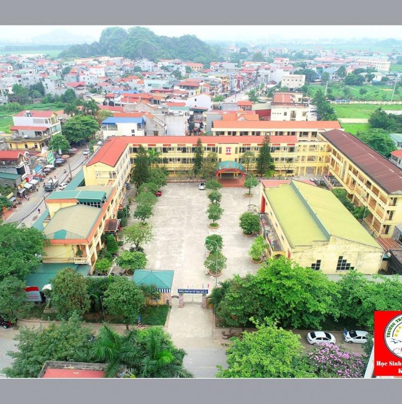 Trường Quốc Oai nhìn từ trên cao
