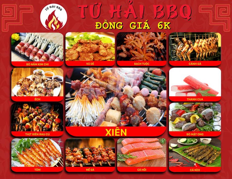 Tứ Hải BBQ - Xiên Nướng Đồng Giá 6K
