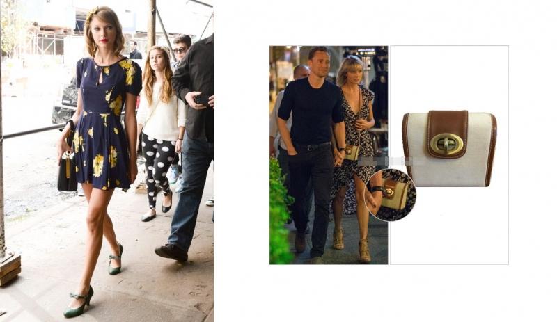 Taylor Swift diện váy và túi của thương hiệu Urban Outfitters