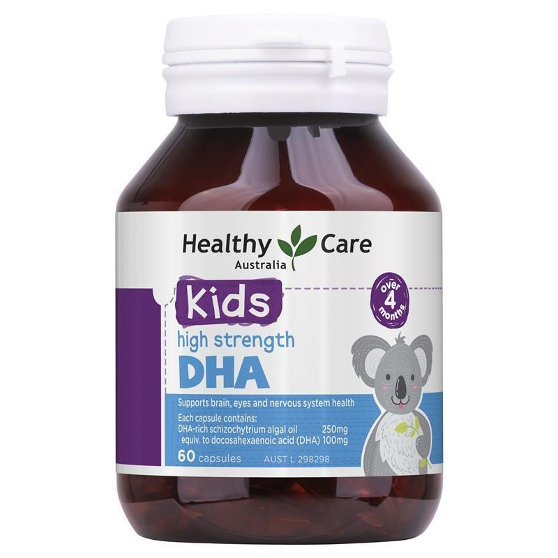 Viên bổ sung DHA cho bé Healthy Care Kid's High DHA (Mẫu mới)