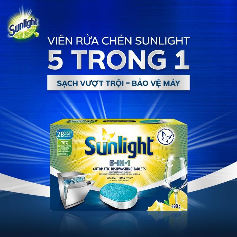 Viên Rửa Chén Bát Sunlight 5 in 1