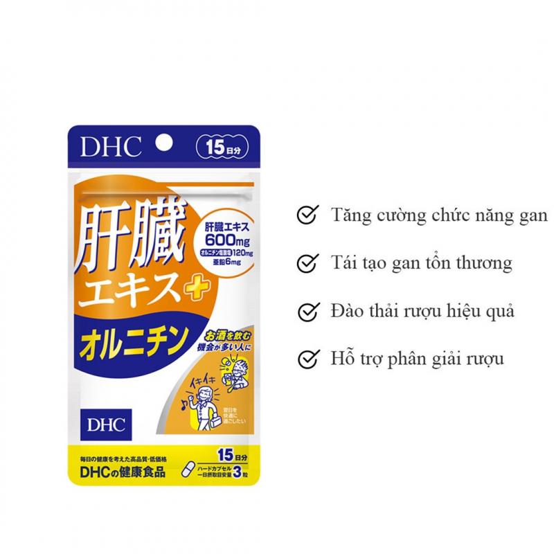 Viên uống bổ gan DHC Liver Essence - Ornithine