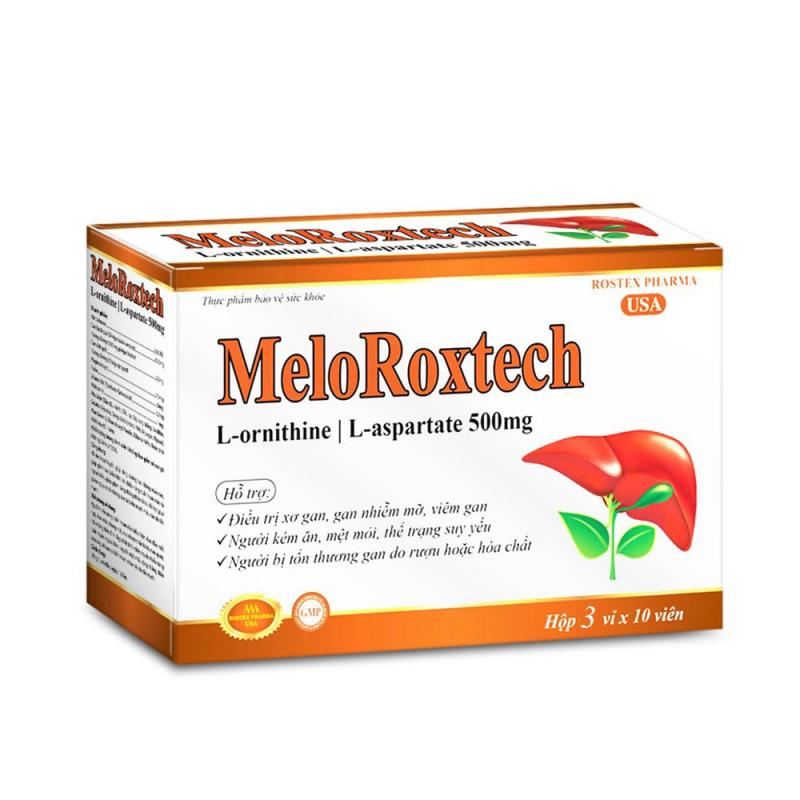 Viên uống bổ gan Meloroxtech L-ornithine L-aspartat giải độc gan