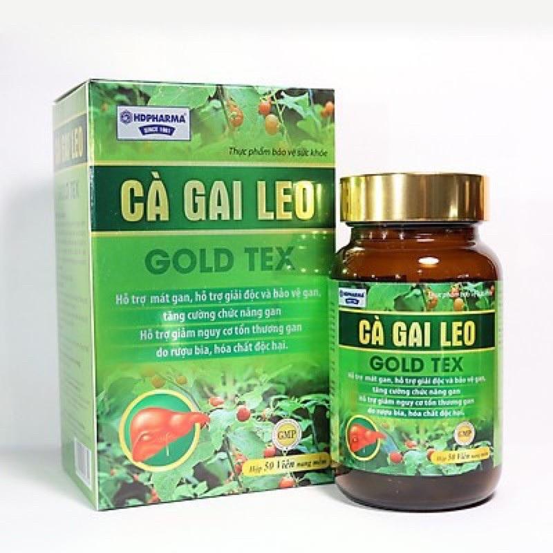 Viên uống bổ gan thảo dược Cà Gai Leo Gold Tex mát gan, giải độc gan