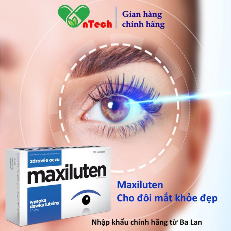 Viên uống bổ mắt AFLOFARM MAXILUTEN tăng cường thị lực cải thiện tình trạng mỏi mắt mờ khô mắt hộp