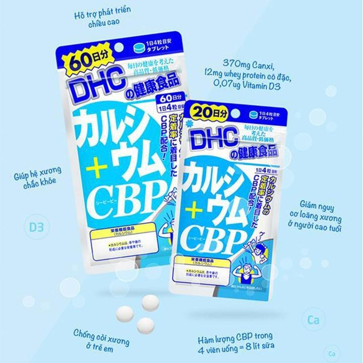 Viên uống Bổ sung Canxi DHC Calcium + CBP