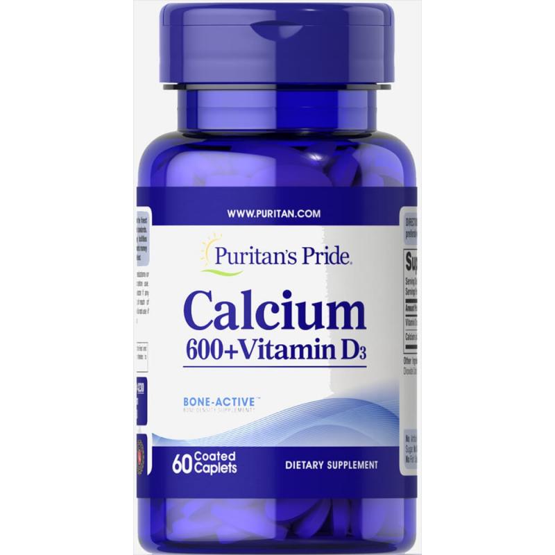 Viên uống bổ sung Canxi và Vitamin D3 chống loãng xương Puritan's Pride