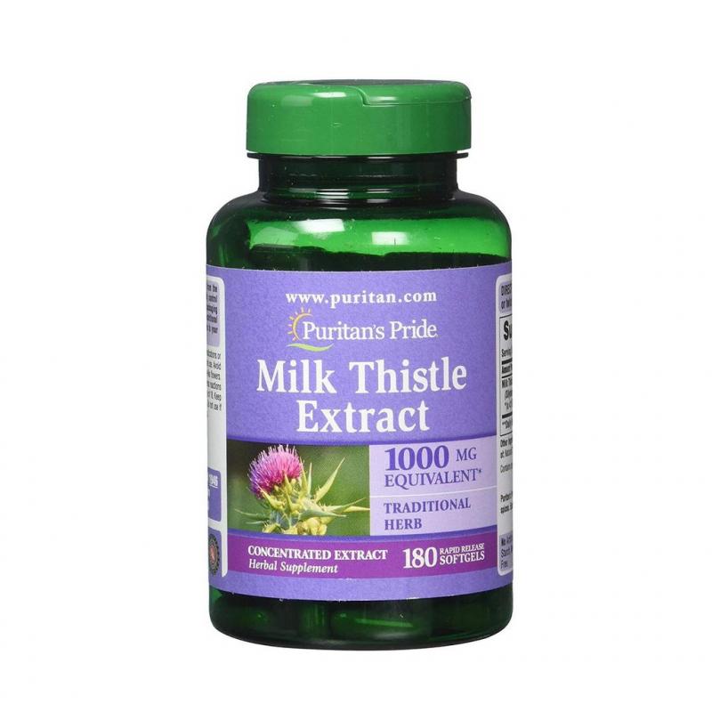 Viên uống giải độc gan Cao kế sữa Puritan's Pride Milk Thistle Extract
